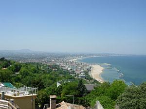 panorama costa gabicce mare