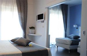 Dettalgio su camera dell'Hotel Ambassador di Riccione