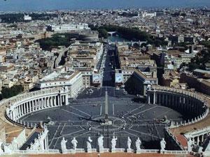 Visuale su Piazza San Pietro in Roma