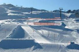 Dettaglio sullo Snowpark di San Martino