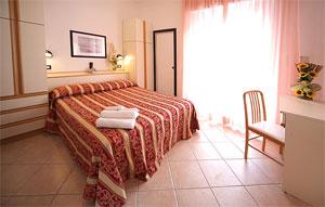 Dettaglio su camera dell'Hotel Amedeo di Misano