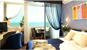 Dettaglio su camera dell'Hotel Tiffany's a Riccione
