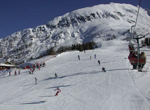 Dettaglio su impianti da sci di Aprica in Valtellina