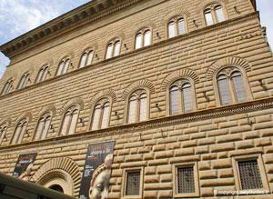 Dettaglio su Palazzo Strozzi a Firenze