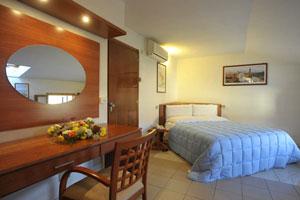 Dettaglio su camera dell'Albergo Romagna a Fratta Terme