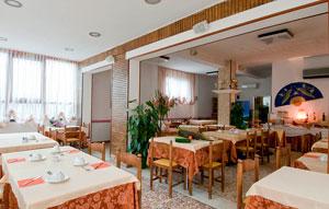 dettaglio su ristorante dell'Hotel Angelini a Viserba di Rimini