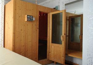 Dettaglio su sauna dell'Hotel Ambassador a Riccione
